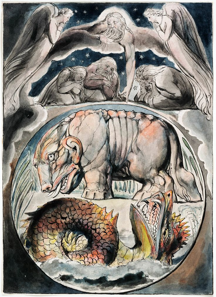 William Blake Behemoth and Leviathan from the Book of Job William Blake ca1793