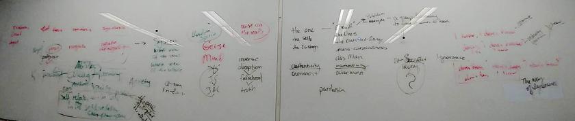 Kierkegaard lecture white board